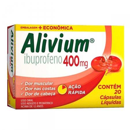 Alivium 400mg 20 Cápsulas Gel Hypermarcas