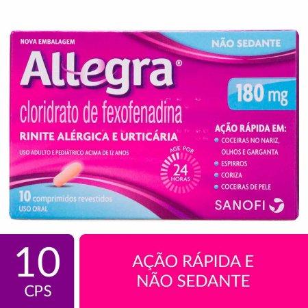 Allegra 180mg com 10 Comprimidos | Drogaraia.com Foto 1