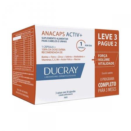 Suplemento Alimentar para Cabelos e Unhas Anacaps Activ+ com 90 cápsulas