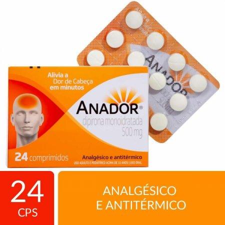 Analgésico Anador 500mg com 24 Comprimidos