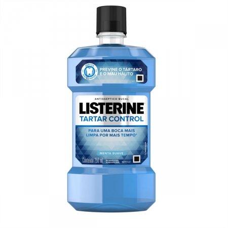 Enxaguante Antisséptico Bucal Listerine Tartar Control Menta Suave com 250ml