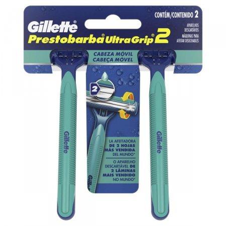 Gillette Prestobarba Ultragrip Barbeador Descartável com 2 unidades