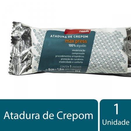 Atadura de Crepom Max Press Needs 8cm x 1,8m