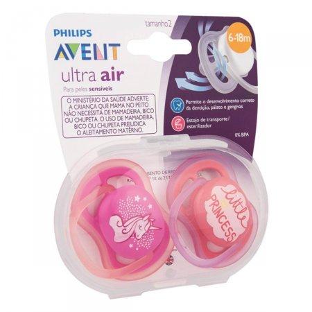Chupeta Avent Ultra Air Rosa 6 a 18 meses