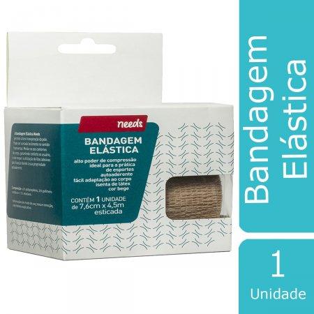 Bandagem Elástica 7,6cm x 4,5m Cor Bege