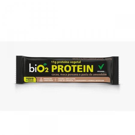 Barra de Proteína Vegana Bio2 Sabor Cacau, Maca Peruana e Pasta de Amendoim com 45g