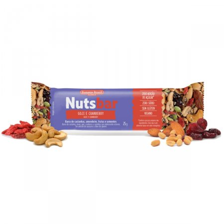 Barra de Castanhas com Goji e Cranberry Nuts-Bar