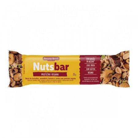 Barra de Castanhas com Proteína Vegana Nuts-Bar 25g   Drogaraia.com
