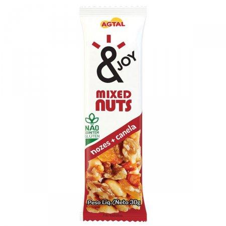 Barra de Cereal Mixed Nuts Nozes e canela