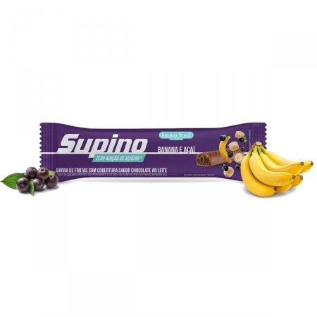 Barra de Frutas Supino Zero Banana e Açaí 24g | Drogaraia.com