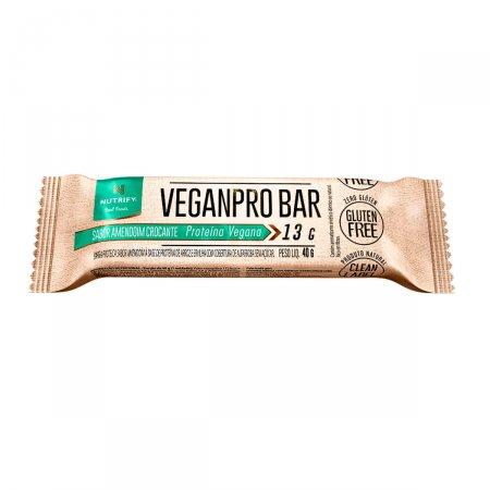 Barra de Proteína Vegetal Veganpro Nutrify Amendoa Crocante com 30g