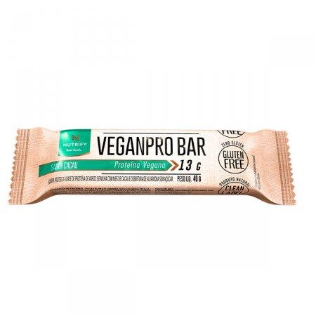 Barra de Proteína Vegetal Veganpro Nutrify Cacau com 30g