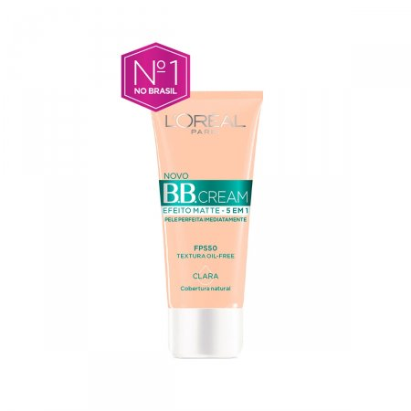 Base BB Cream L'Oréal Efeito Matte 5 em 1 Clara FPS50 30ml |
