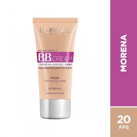 Base BB Cream L'Oréal Paris 5 em 1 FPS20 Morena