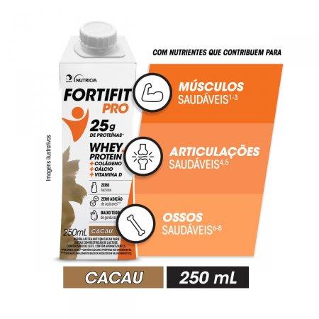 Fortifit Pro Bebida Láctea Whey Protein Cacau com 250ml