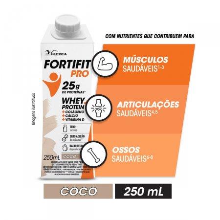 Fortifit Pro Bebida Láctea Whey Protein Coco com 250ml