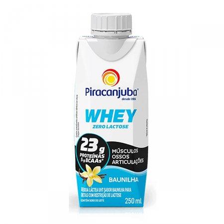 Bebida Láctea Piracanjuba Whey Zero Lactose Sabor Baunilha