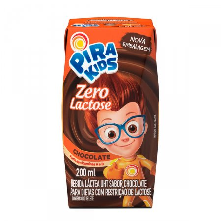 Pirakids Bebida Láctea Zero Lactose Chocolate com 200ml