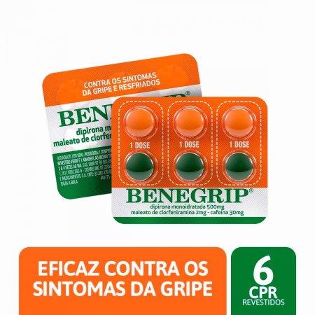 Benegrip 500mg + 2mg + 30mg com 6 comprimidos