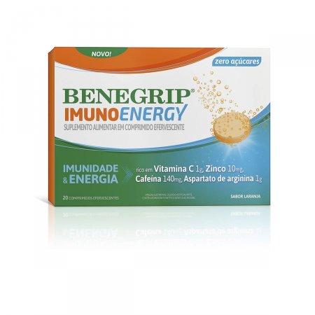 Benegrip Imuno Energy com 20 Comprimidos Efervescentes