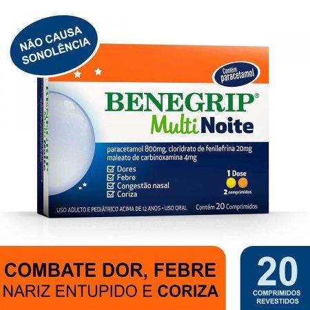 Benegrip Multi Noite com 20 Comprimidos