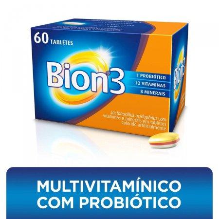 Complexo Vitamínico Bion3 com 60 Tabletes | Drogaraia.com Foto 1