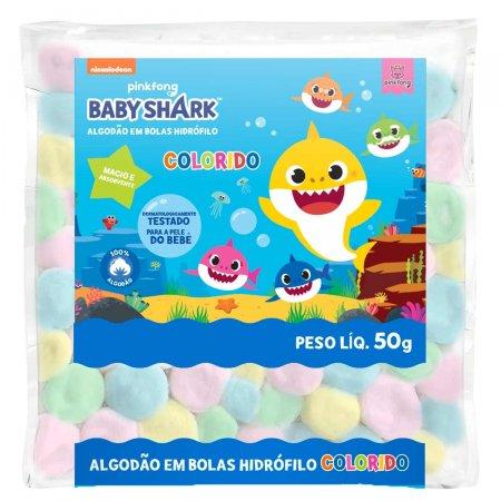 Bola de Algodão Colorido Cremer Baby Shark 50g