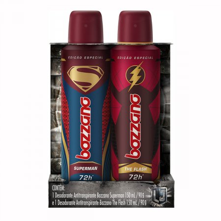 Kit Desodorante Antitranspirante Bozzano Superman + The Flash