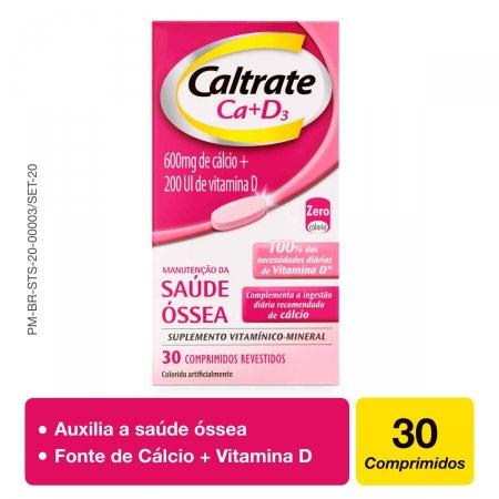 Caltrate Ca+D3 600mg + 200UI com 30 Comprimidos Foto 2