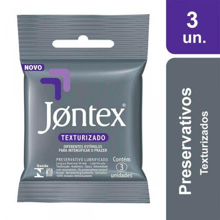 Camisinha Jontex Sensation Texturizado com 3 unidades