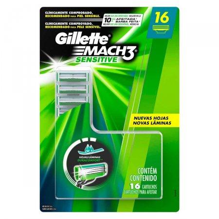 Carga para Aparelho de Barbear Gillette Mach3 Sensitive com 16 Unidades | Foto 1