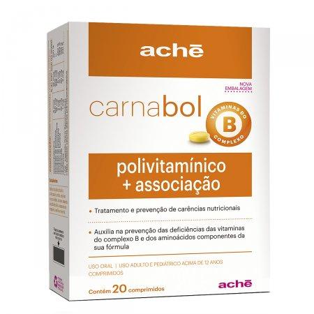 Polivitamínico Carnabol com 20 comprimidos