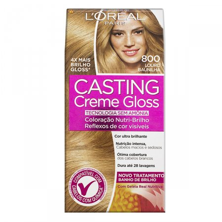 Tintura Semi-Permanente Casting Creme Gloss 800 Louro Baunilha