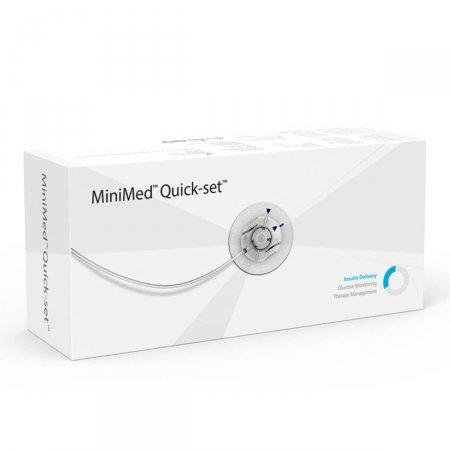 Cateter Medtronic MinimMed Quick-set MMT-399 com cânula de 6mm e tubo de 60cm com 10 unidades
