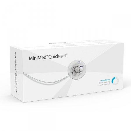 Cateter Medtronic MinimMed Quick-set MMT-396 com cânula de 9mm e tubo de 110cm com 10 unidades