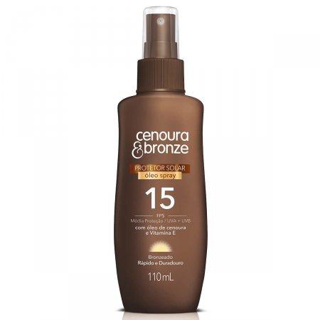 Óleo Protetor Solar Spray Cenoura & Bronze FPS15