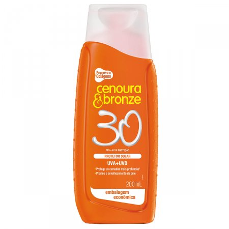 Protetor Solar Cenoura & Bronze FPS30