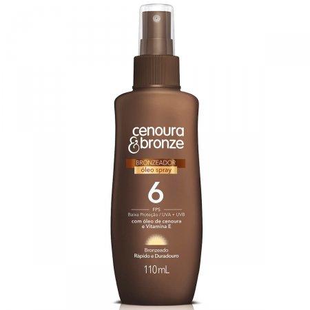 Óleo Bronzeador Spray Cenoura & Bronze FPS6