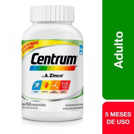 Suplemento Vitamínico-Mineral Centrum A a Zinco com 150 comprimidos