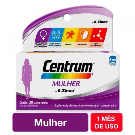 Suplemento Vitamínico Centrum Mulher de A a Zinco com 30 comprimidos