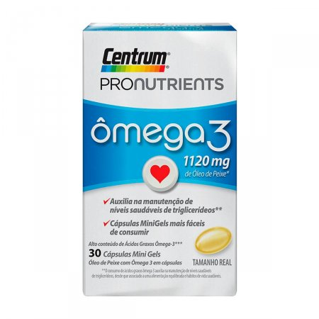Ômega 3 Centrum ProNutrients com 30 cápsulas