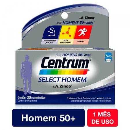 Suplemento Vitamínico-Mineral Centrum Select Homem com 30 Comprimidos