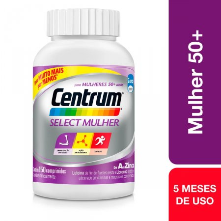 Suplemento Vitamínico-Mineral Centrum Select Mulher com 150 comprimidos