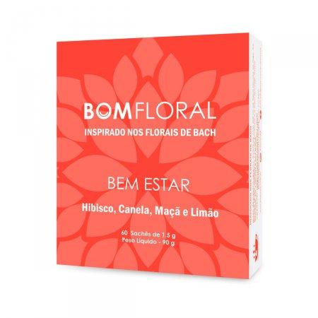 Chá Bom Floral Bem Estar Sabor Hibisco, Canela, Maçã e Limão