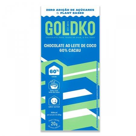 Chocolate ao Leite de Coco Gold&Ko 60% Cacau