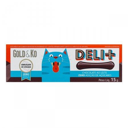 Chocolate ao leite Deli + Zero açúcar