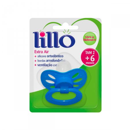 Chupeta de Silicone Lillo Extra Air Tamanho 2 Azul