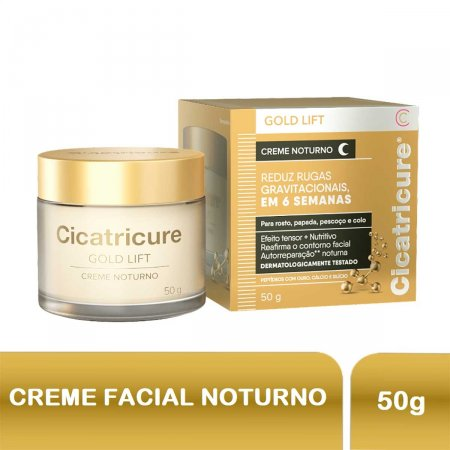 Creme Facial Cicatricure Gold Lift Noturno com 50g