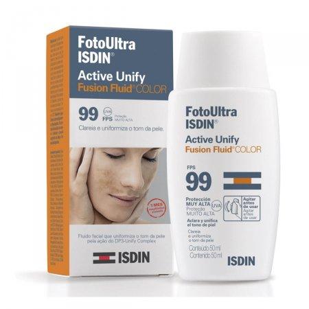 Clareador Facial Isdin FotoUltra Active Unify Fusion Fluid Color FPS 99 com 50ml