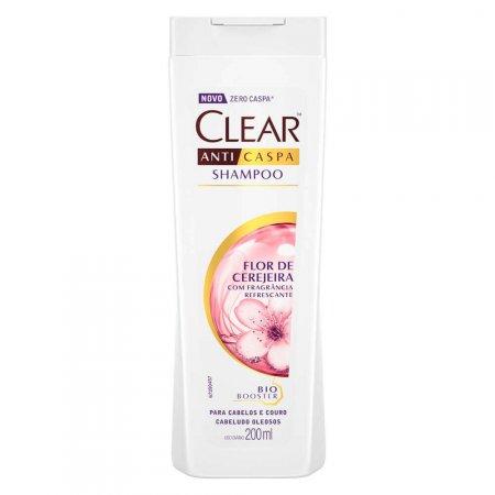 Shampoo Clear Anticaspa Flor de Cerejeira com 200ml